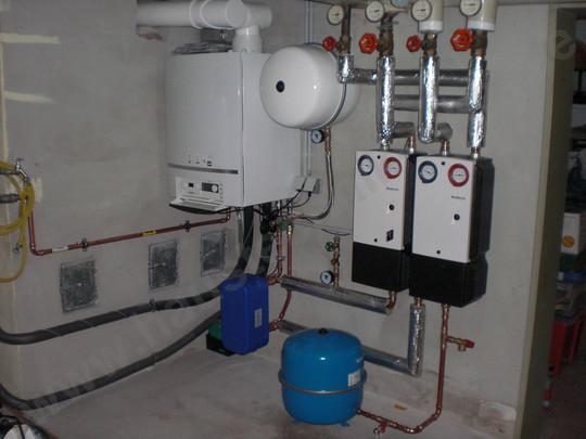 Moderne, energieeffiziente Heizungsanlage